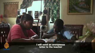 Haitian Child in search of an education