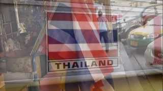 Thailand National Anthem with Thai Flags