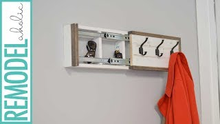 Coat Rack with Hidden Compartment DIY Tutorial