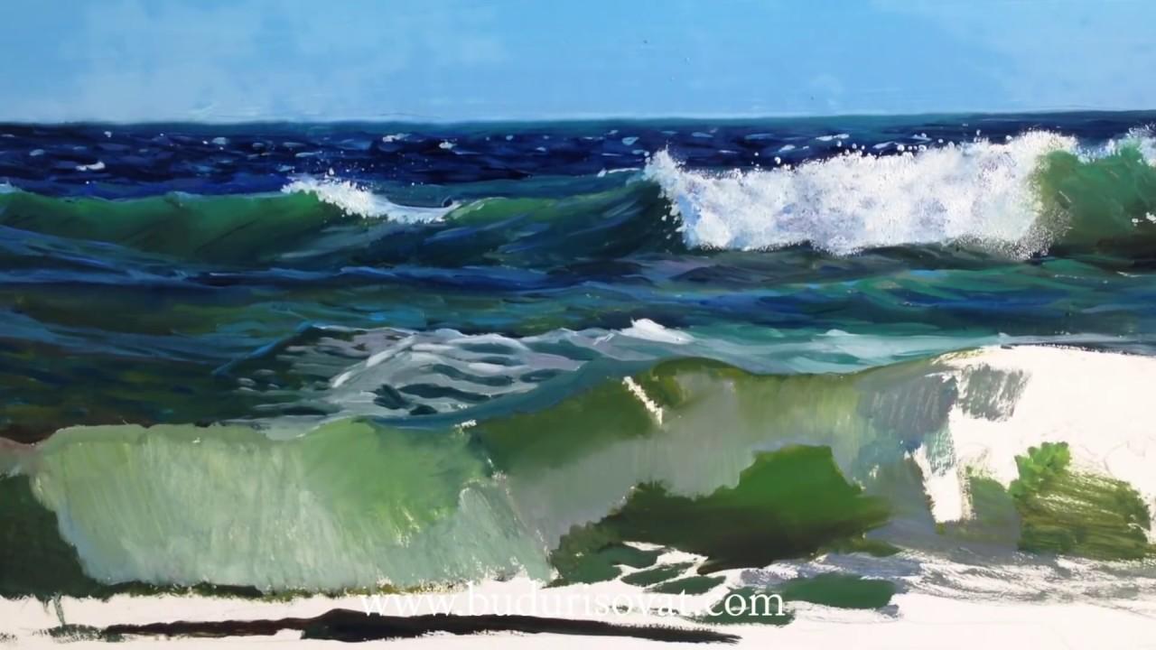 Как маслом нарисовать море