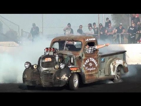 1,000 HP Rat Rod Pick-up Fries the Tires� And Transmission!