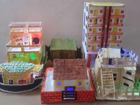 School projects different types of houses