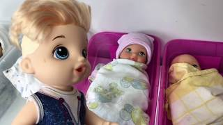 BABY ALIVE New baby is born Justin meets his baby sister baby alive videos