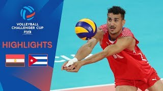 EGYPT vs. CUBA - Match Highlights | FIVB Men's Challenger Cup 2019