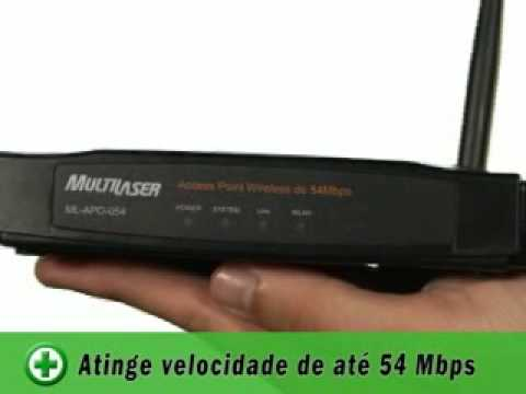 Roteador Access Point Wireless Multilaser - BuscaPé Vídeos