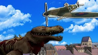 WW2 Planes Attack Giant SCP 682 in Gmod! - Garry's Mod Gameplay