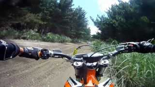 Boxing Day ride on the KTM Freeride 250R at The Sandpit, 2013