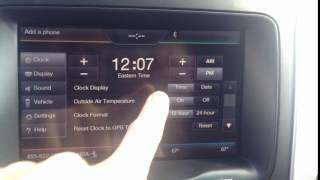 How to Change a Clock with My Ford Touch