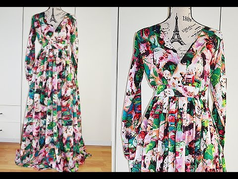 DIY I How To Make A Maxi Dress With Slit I Easy Sewing