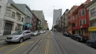 San Francisco Cable Car, Powell-Hyde line. UHD 4K