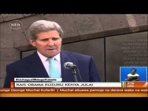 Waziri wa America John Kerry akutana na Uhuru na Raila