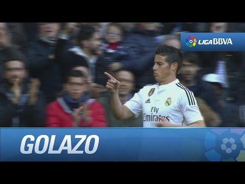 Gol de James (1-0) tras buena combinación en el Real Madrid - RCD Espanyol - HD