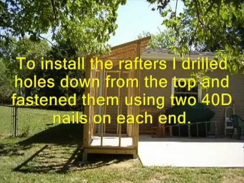 How to Build a Lean To Style Storage Shed (Updated Version) - YouTube