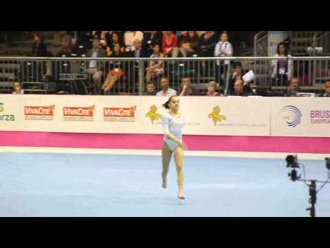 Larisa Andreea IORDACHE ROU, Floor, Team Final, European Gymnastics Championships 2012