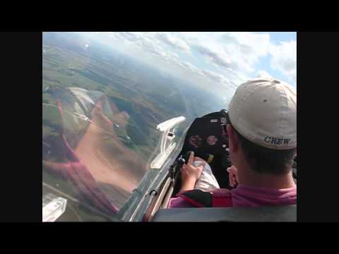 There is no finer club and no nicer place to soar than at Stanton Airfield. Shown is a typical local flight with Brian receiving a lesson from an instructor on how to climb in thermals. There...
