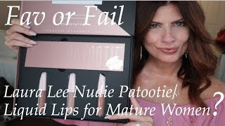 Laura Lee  Nudie Patootie Eyeshadow Pallet and Liquid Lips Beauty over 50