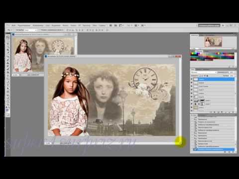 Как сделать коллаж в adobe photoshop cs6