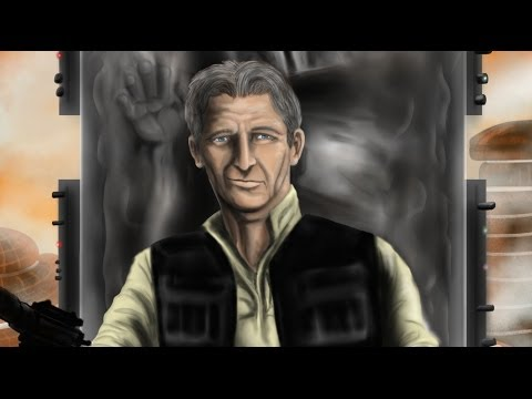 SPEED PAINTING HAN SOLO (Older) made w/SketchbookPro on an iPad2