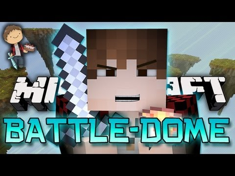 THE BEST MOST EPIC PVP Minecraft: BATTLE DOME Mini Game w Mitch Friends