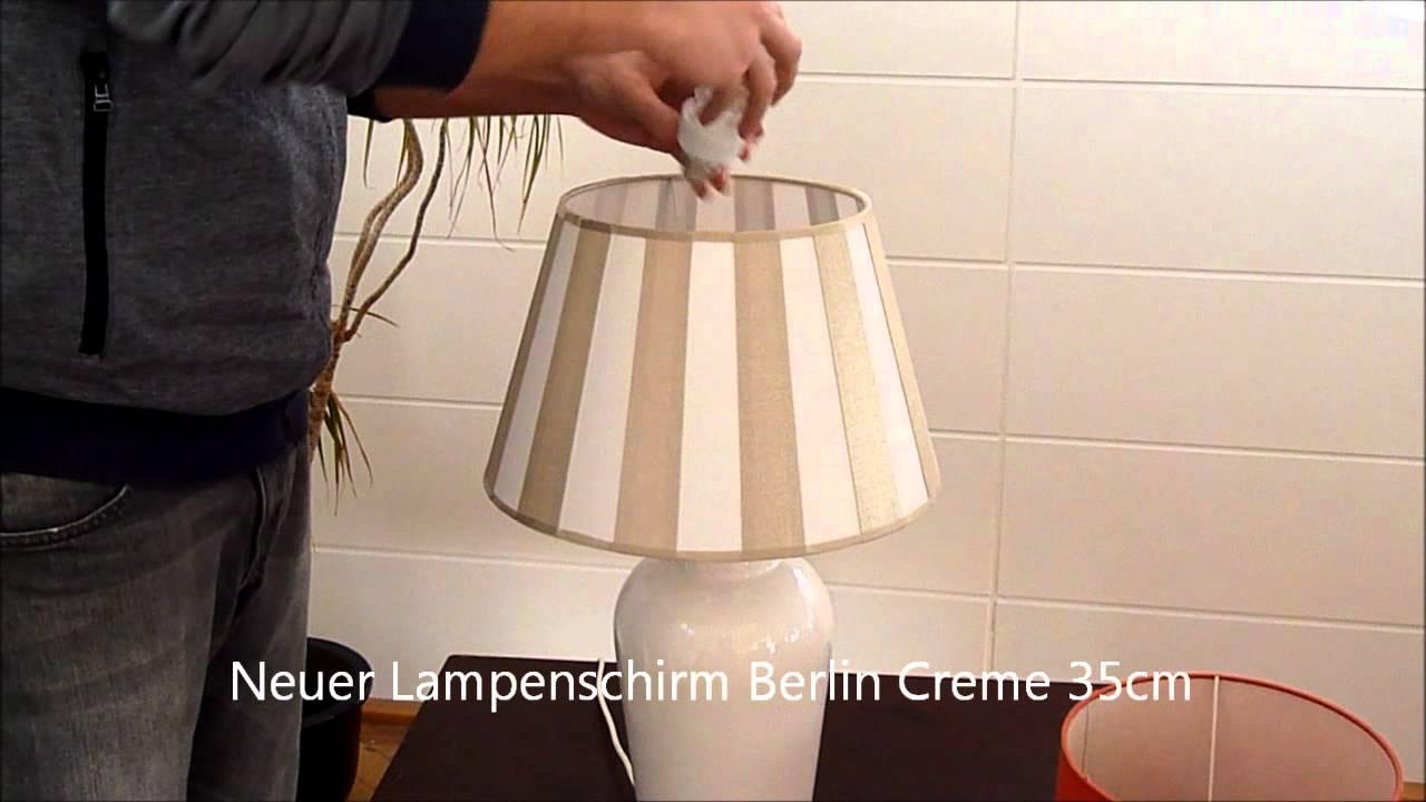 schirmo lampenschirm umbau tischlampe mit schirm berlin youtube. Black Bedroom Furniture Sets. Home Design Ideas