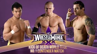 Wrestlemania XXX: KENTA vs. Low-Ki vs. Davey Richards (Kick Of Death Match)