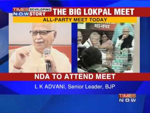 Crucial all party meet on Lokpal today