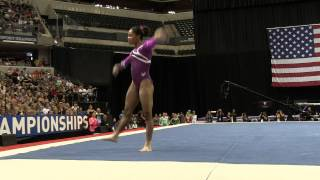 Gabrielle Douglas– Floor Exercise – 2015 P&G Championships – Sr. Women Day 2
