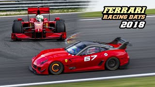 Ferrari racing days Spa 2018 (FXX, 333 sp, F40, F50, F1, 488 Challenge, ...)