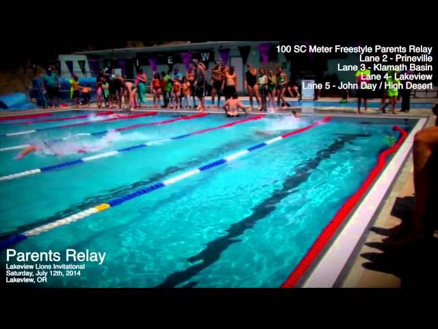 Lakeview Invitational Swim Meet: Parents 100-meter relay 7-12-2014