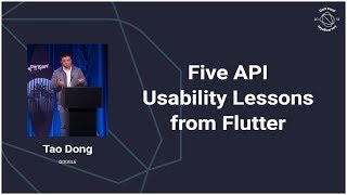 Five API Usability Lessons from Flutter (DartConf 2018)