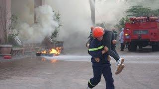 Diễn Tập Phương Án Chữa Cháy  Cứu Hộ, Cứu Nạn tại Bến xe Miền Đông