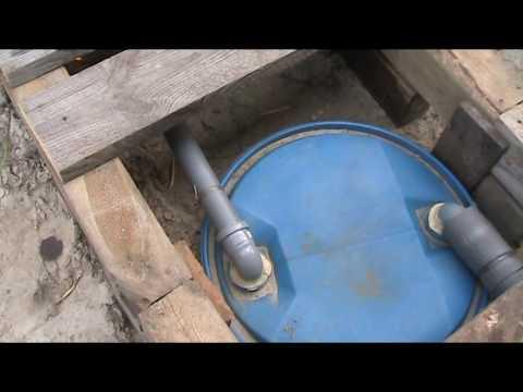 Как сделать слив в бане на винтовых сваях