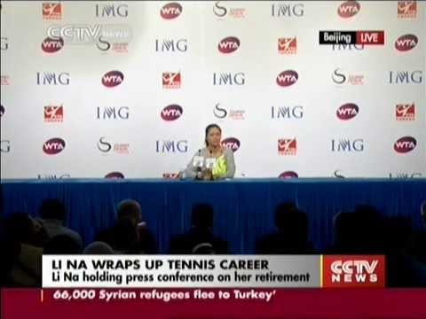 Li Na bids emotional farewell to tennis