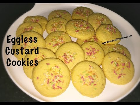Custard cookies - How to make soft and tasty custard cookies - Custard biscuits - Tea time snack