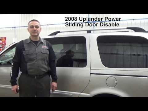 2008 Uplander Power Sliding Door problems