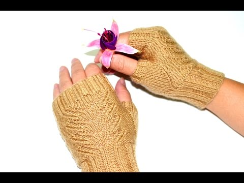 Picking Up Stitches In Knitting Mitten Thumb : How to pick up 4 stitches for Fingerless Mittens Thumb-holes - YouTube