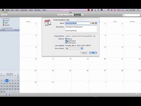 How to Sync your iCal with PowerSchool