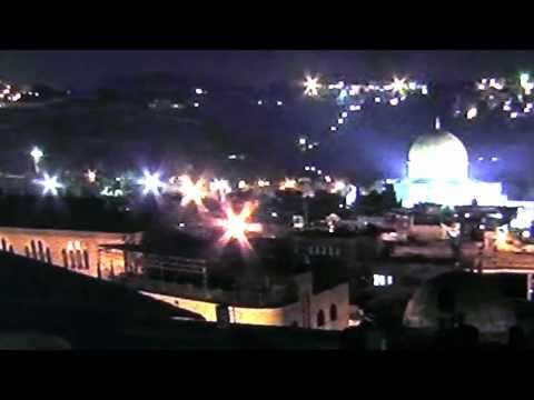עבמים בירושלים מעל כיפת הסלע