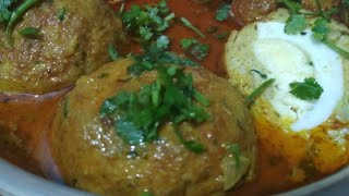 Nargisi kofta curry | simple chicken kofta curry restaurant style curry by nasreen's kitchen recipe