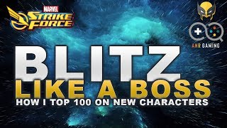 Blitz like a Boss: Tips I use when chasing top 100 (Marvel Strike Force)