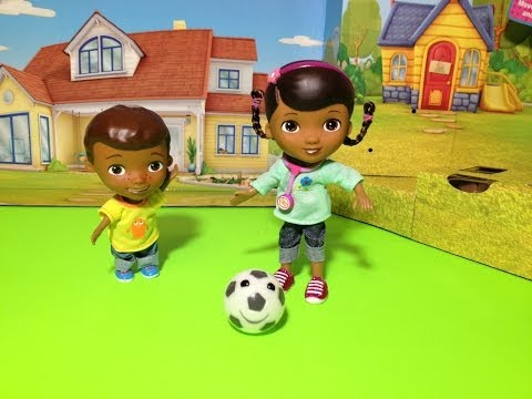 Disney Junior Doc McStuffins Doc & Donny Playtime Soccer Playset Disney Jr Toy Playset