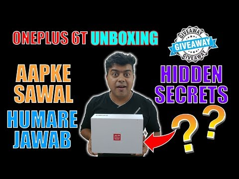 Giveaway, OnePlus 6T India Special Unboxing, Honest Review, Hidden Secrets, Questions Answered