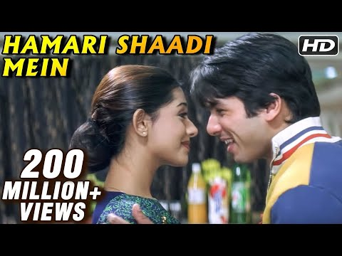 Hamari Shaadi Mein - Shahid Kapoor, Amrita Rao - Vivah - Bollywood Peppy Song