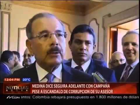 Danilo Medina reacciona nervioso al ser cuestionado por Tweet de Quirino