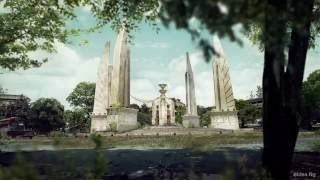 Democracy Monument | Matte Painting