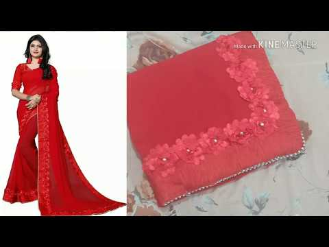 Unboxing new design red saree from Flipkart|sarees online shopping review|online saree|simple saree