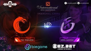 TNC Predator vs Keen Gaming Game 2 | Group Stage | The International 9