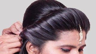 Easy & cute wedding hairstyle for girls   Bridal Hairstyle   Hair Style Girl    Hairstyles 2019