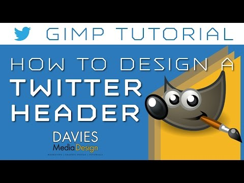 GIMP Tutorial - How to Design a Twitter Header Photo
