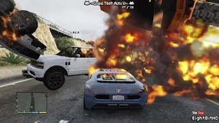 GTA 5 100 Tons Super Car Rampage #1 HD Grand Theft Auto 5